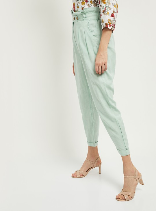 MAX Solid Peg Trousers