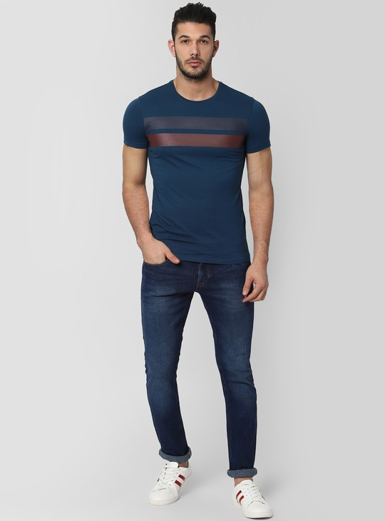PETER ENGLAND Striped Crew Neck T-shirt