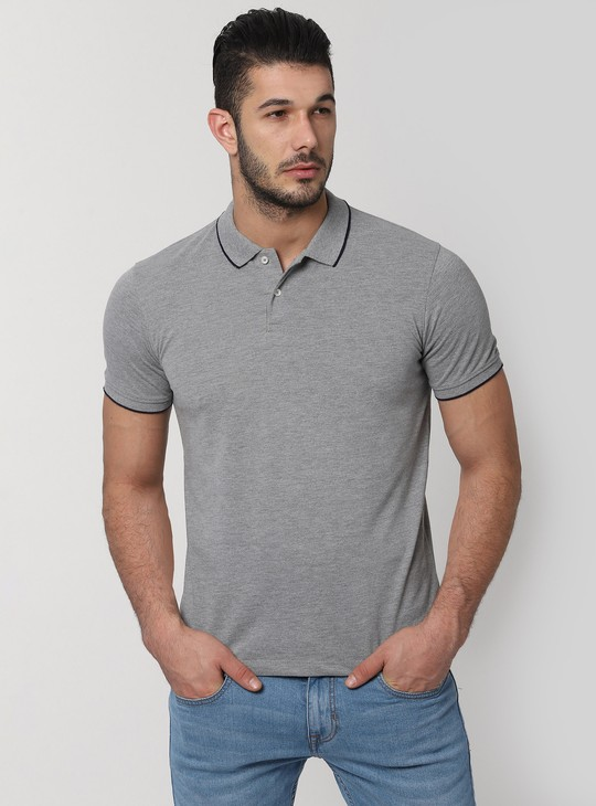 PETER ENGLAND Textured Short Sleeves Polo T-shirt