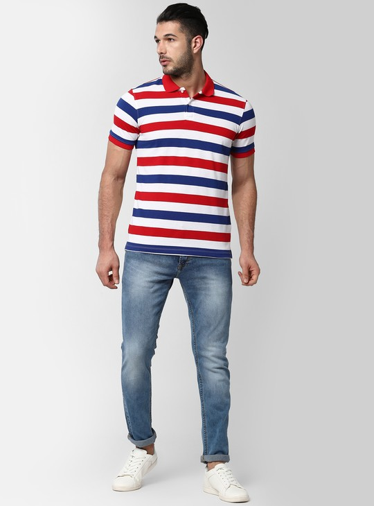 PETER ENGLAND Striped Polo T-shirt