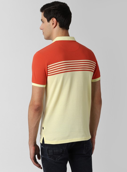 PETER ENGLAND Striped Polo T-shirt