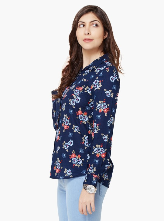 MAX Floral Print Full Sleeves Shirt