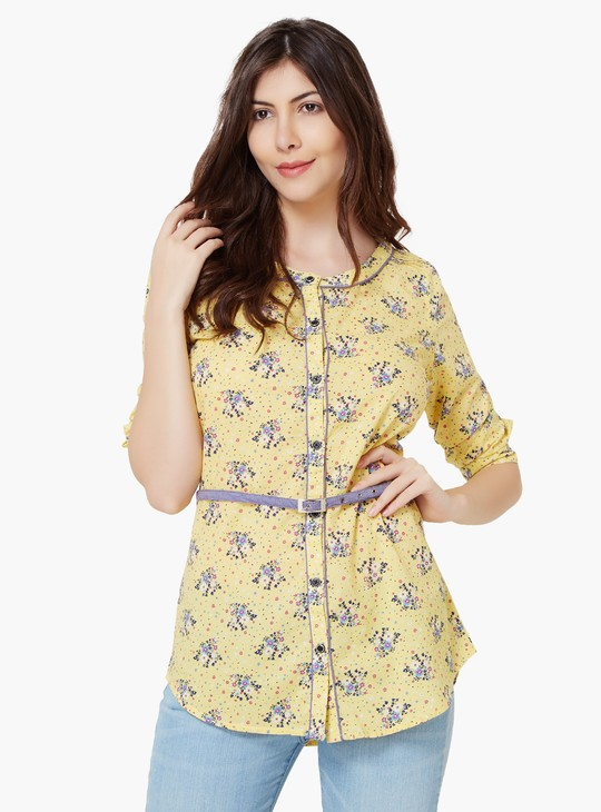 MAX Floral Print Belted Tunic