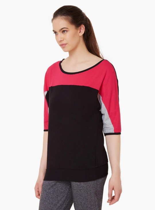 MAX Round Neck 3/4Th Sleeves Top