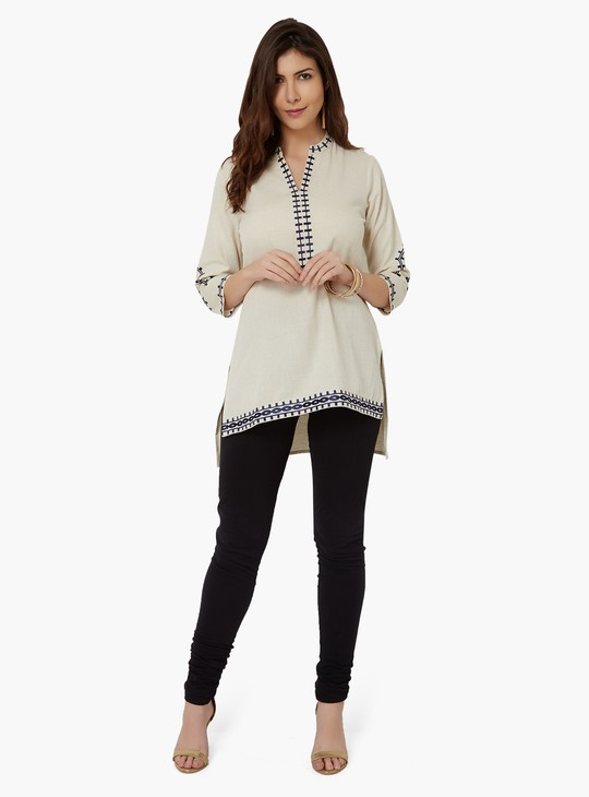 MAX Embroidered High-Low Kurti