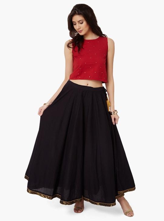 MAX Solid Fusion Maxi Skirt