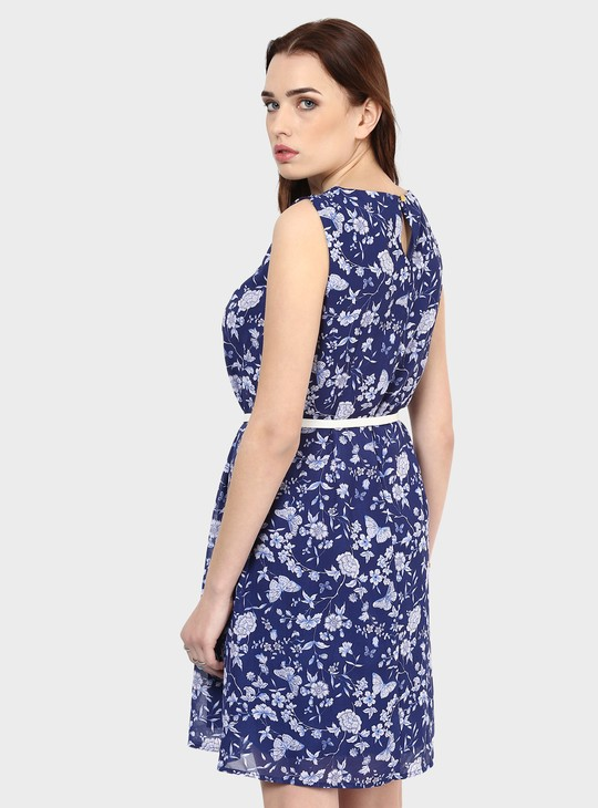 MAX Floral Veil Dress
