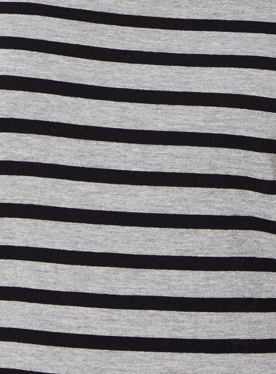 Max Striped Round Neck Top