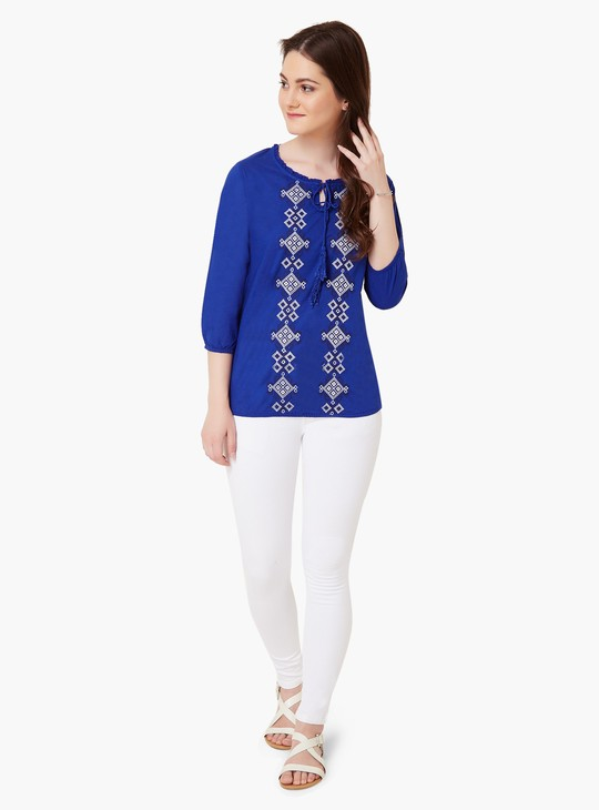 MAX Boho Embroidered Blouse