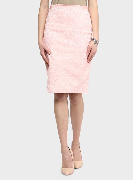MAX Textured Pencil Skirt