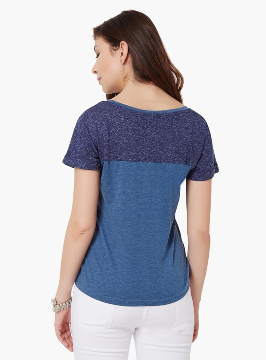 MAX Floral Print Round Neck T-Shirt