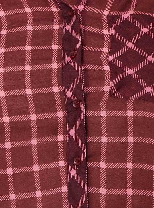 MAX Roll-Up Sleeves Check Shirt