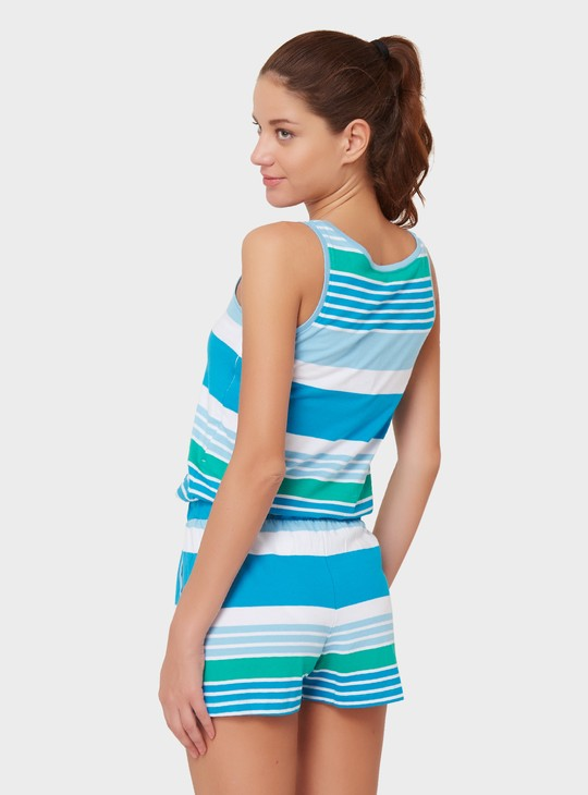 MAX Striped Playsuit