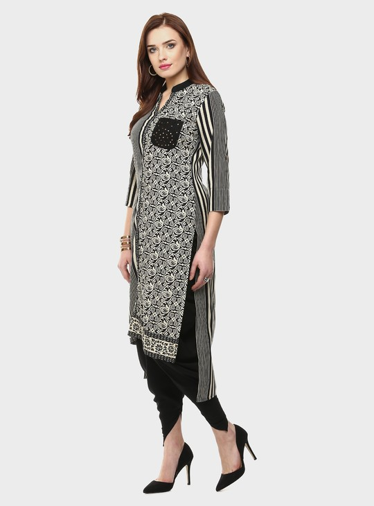 MAX Patch Pocket High Low Kurta