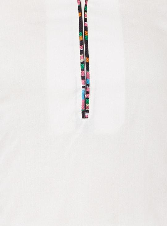 MAX 3/4th Sleeves Band Collar Kurta