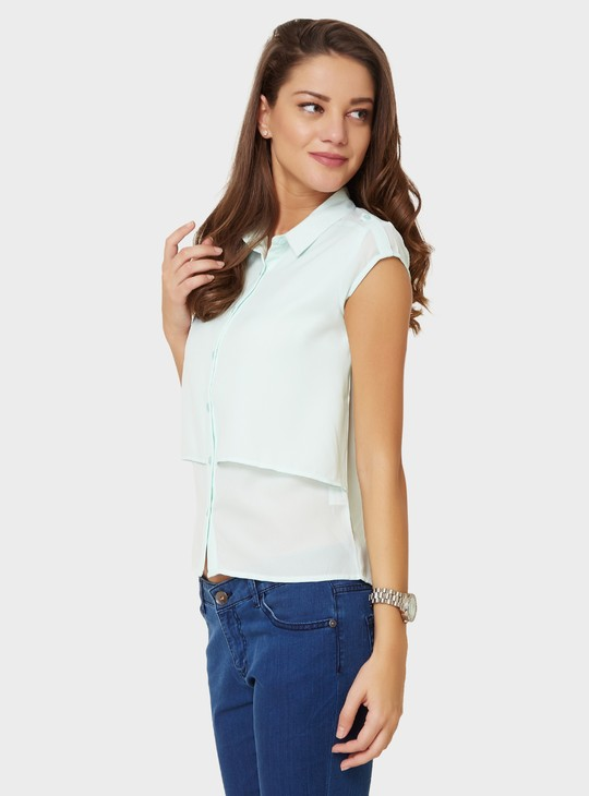 MAX Layered Cap Sleeves Shirt