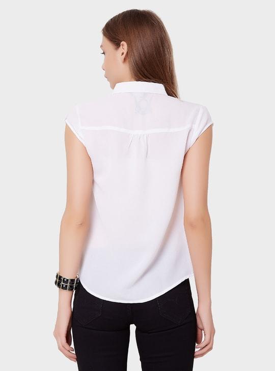 MAX Layered Cap Sleeves Shirt