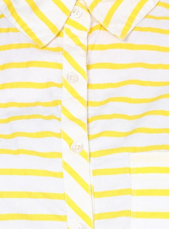MAX Striped Waist Tie-Up Shirt