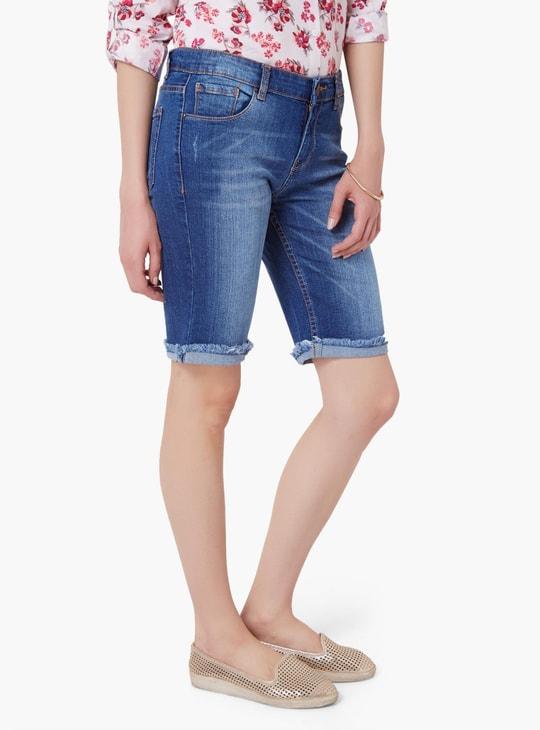MAX Frayed Denim Shorts