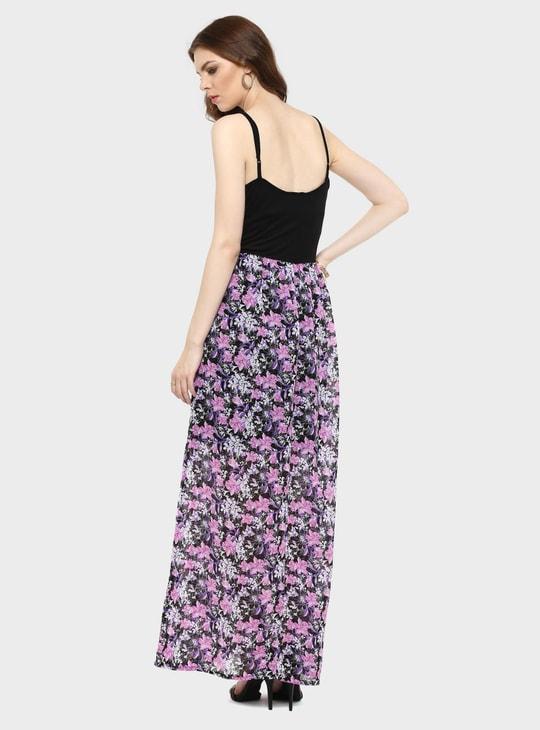 MAX Strappy Floral Print Maxi Dress