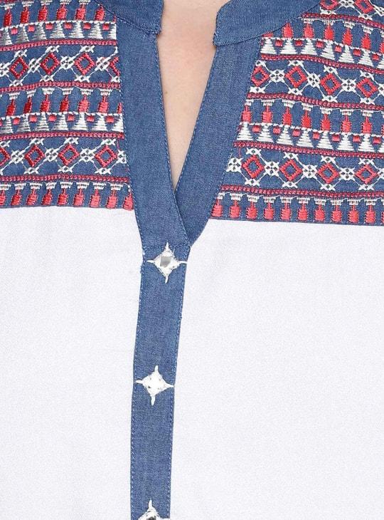 MAX Embroidered High-Low Hem Kurta