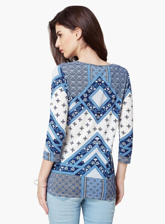 Max Printed Elasticated Hem Top