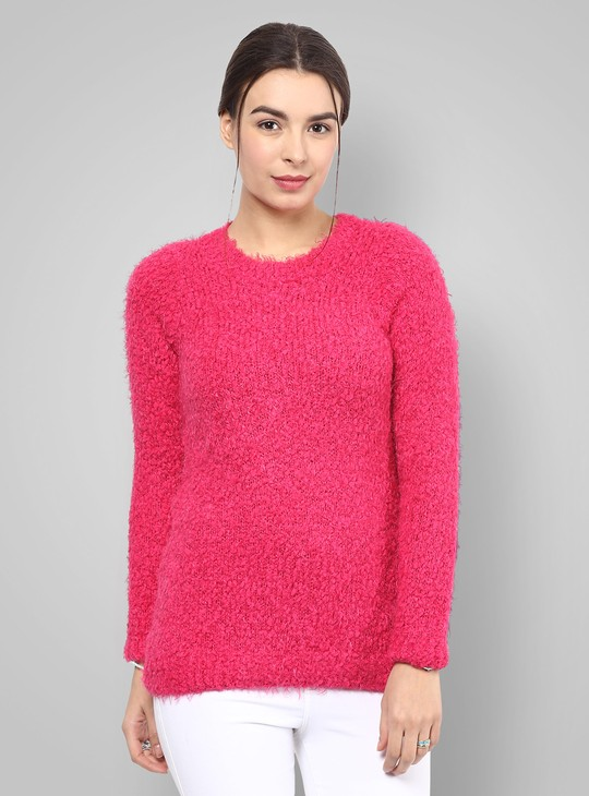 MAX Fluffy Wool Full Sleeves Sweater