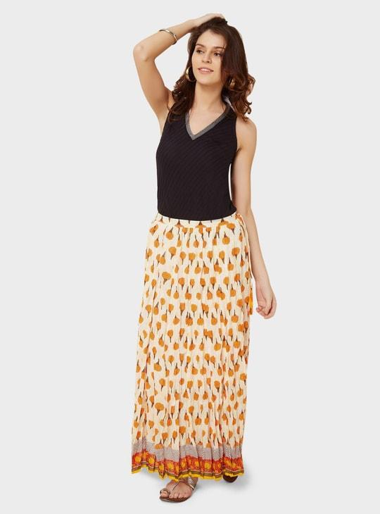 MAX Marigold Print Maxi Skirt