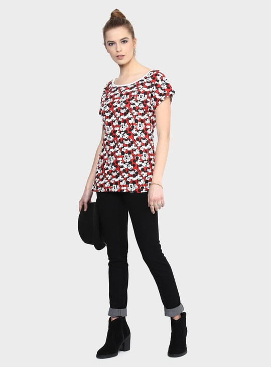 MAX Mickey Mouse Print T-Shirt