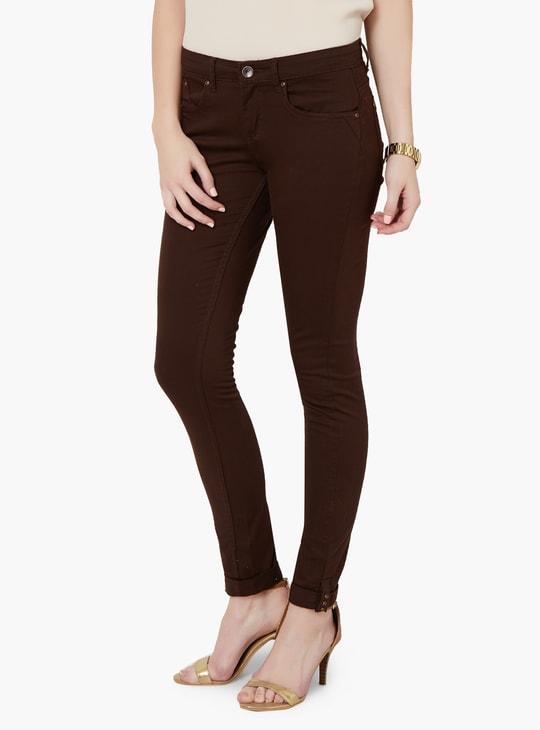 MAX Solid Fold-Over Hem Pants