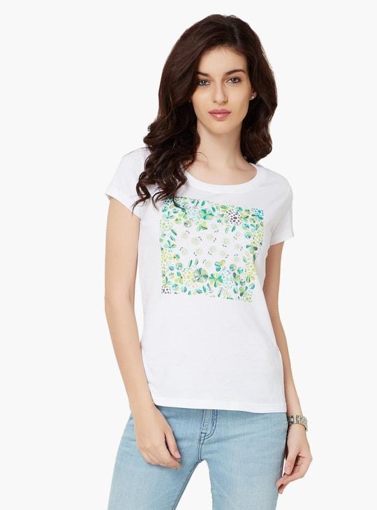 MAX Chest Imprint Round Neck T-Shirt