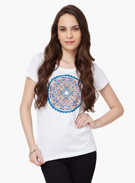 MAX Round Neck Chest Imprint T-Shirt