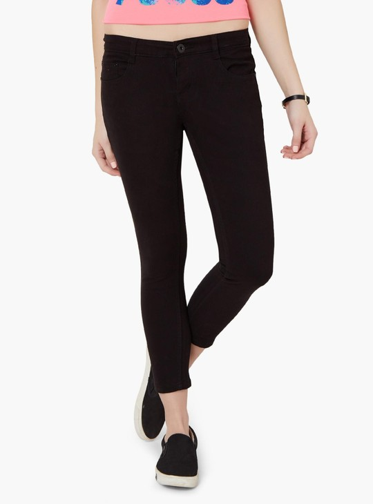 MAX Solid Zipped Ankle Pants