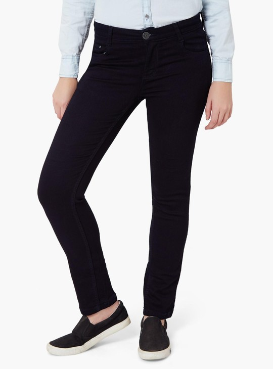MAX Dark Wash Five-Pocket Jeans