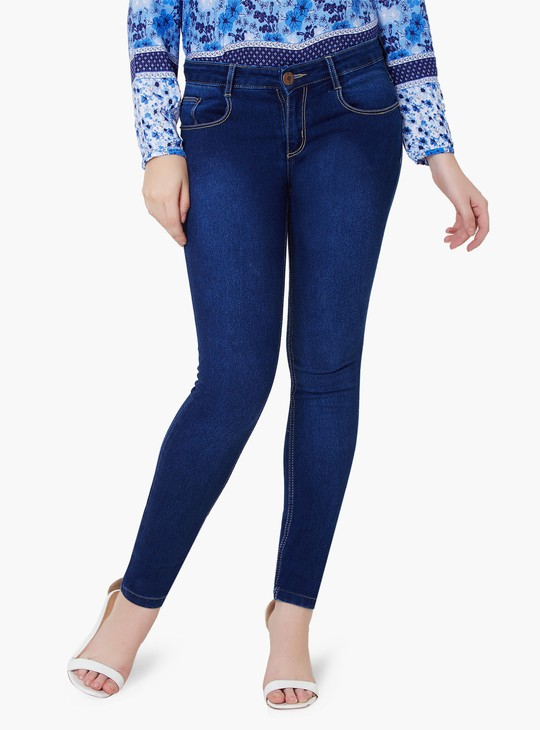 MAX Five-Pocket Skinny Jeans