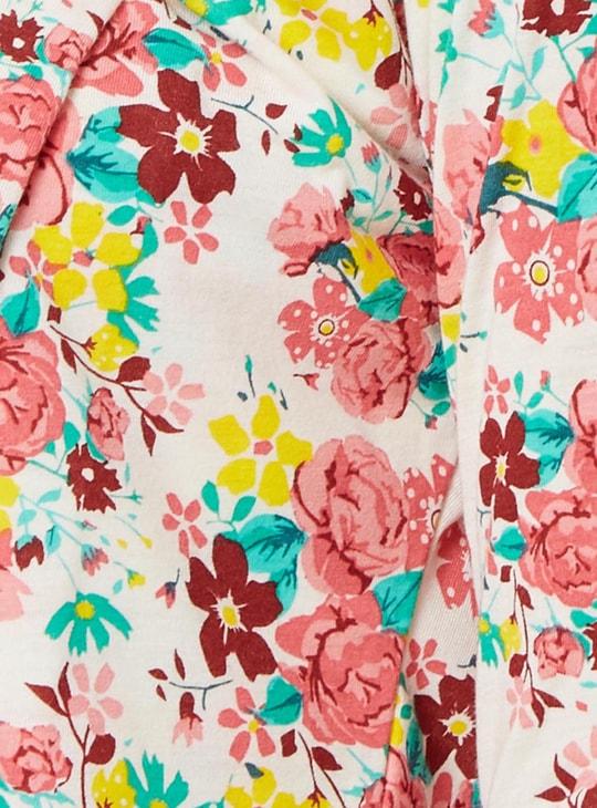 MAX Floral Print 3/4th Sleeves Shrug