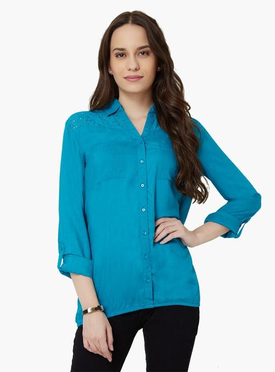 MAX Solid Elasticated Hem Shirt