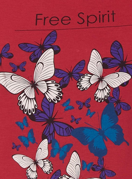 MAX Butterfly Print T-Shirt
