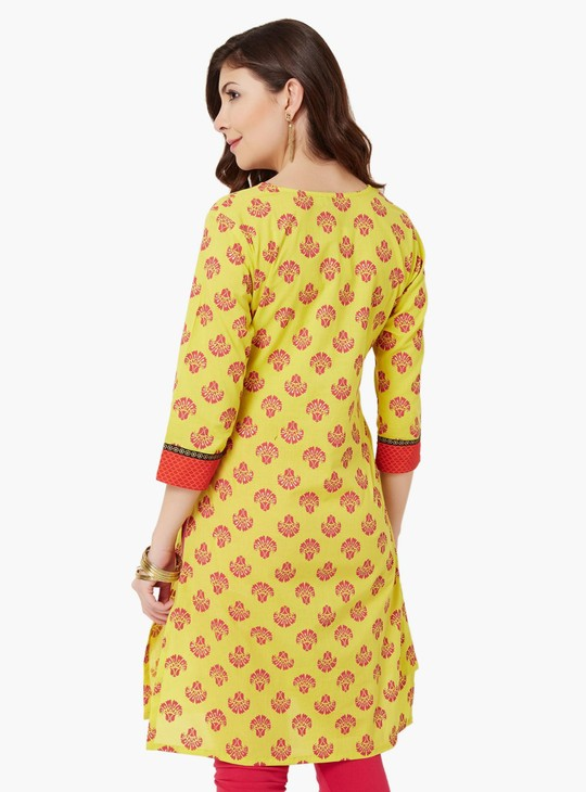 MAX Printed 3/4th Sleeves Kurta
