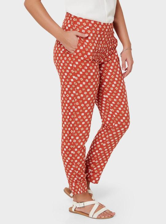 MAX Floral Print Pocketed Pants