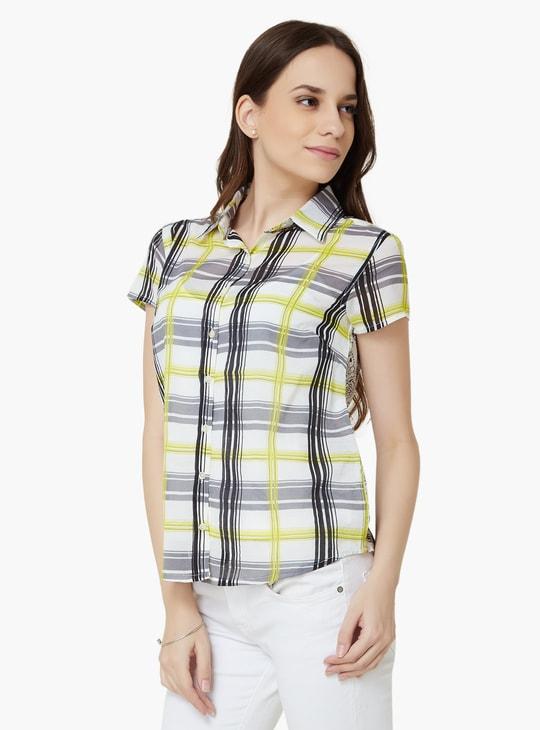 MAX Short Sleeves Check Shirt