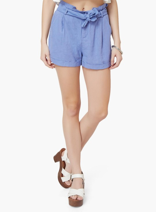 MAX Pleated Linen Shorts