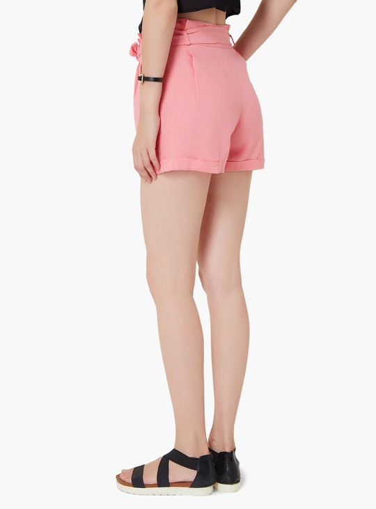 MAX Pleated Waist Tie-Up Shorts