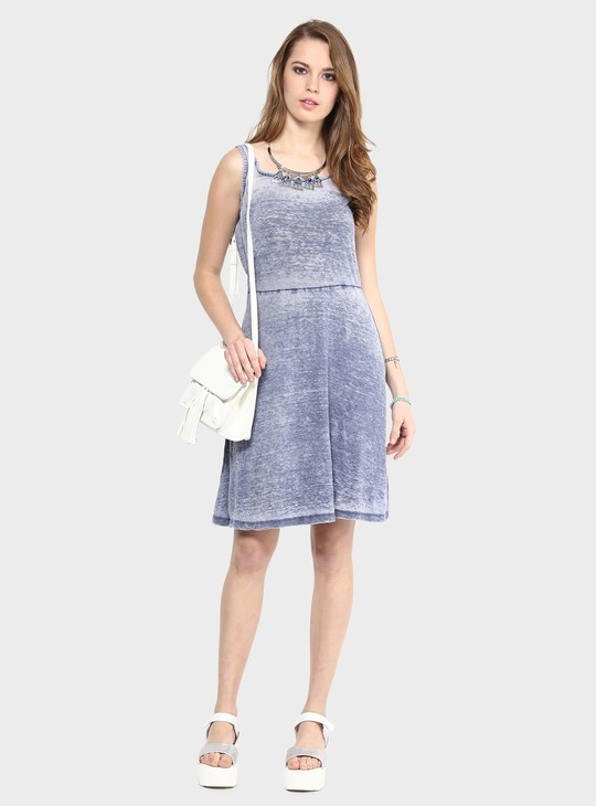 MAX Acid Wash Sleeveless Dress