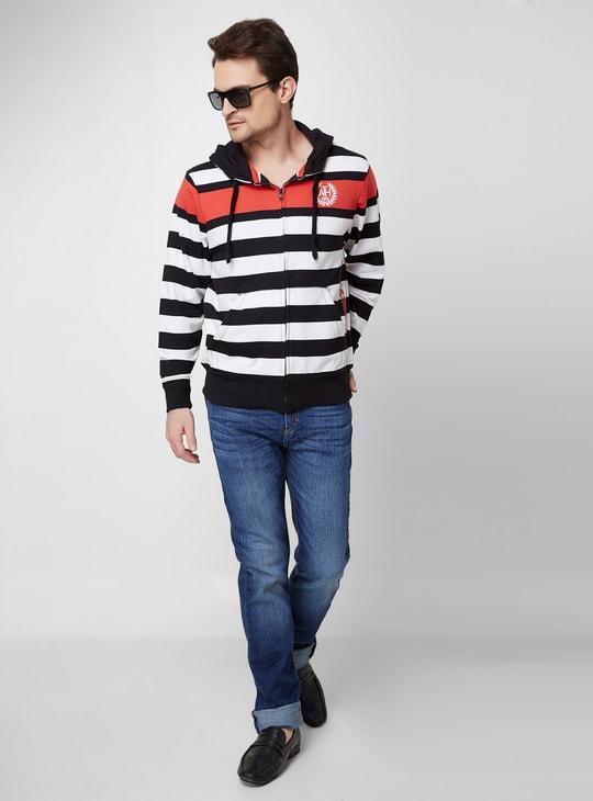 MAX Striped Hooded Sweatshirt
