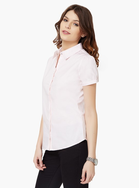 MAX Striped Concealed Button Placket Shirt