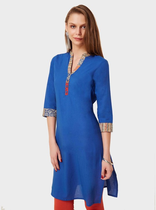 MAX Band Collar 3/4th Sleeves Kurti