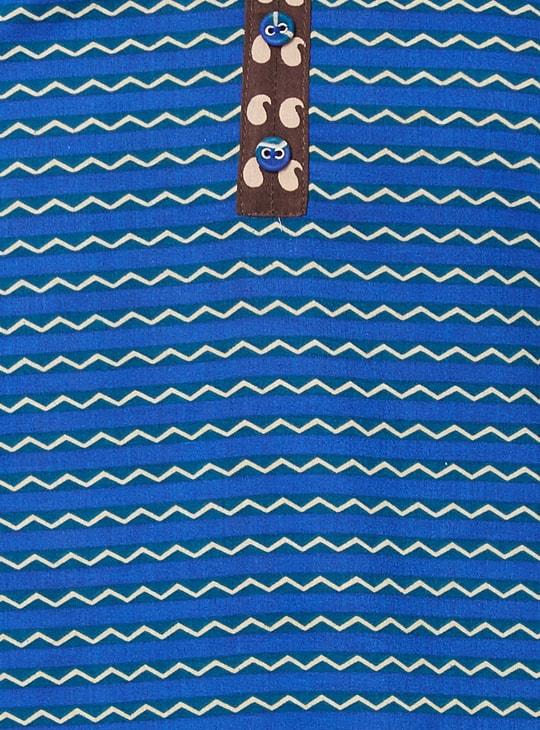 MAX Printed Band Collar Kurti