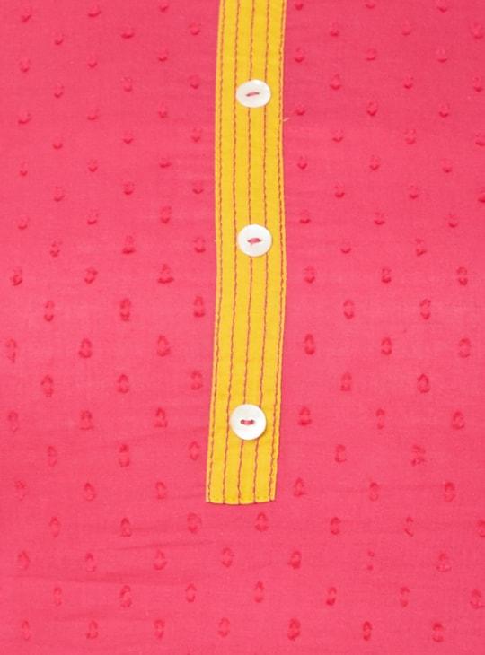MAX Round Neck Dobby Weave Kurti