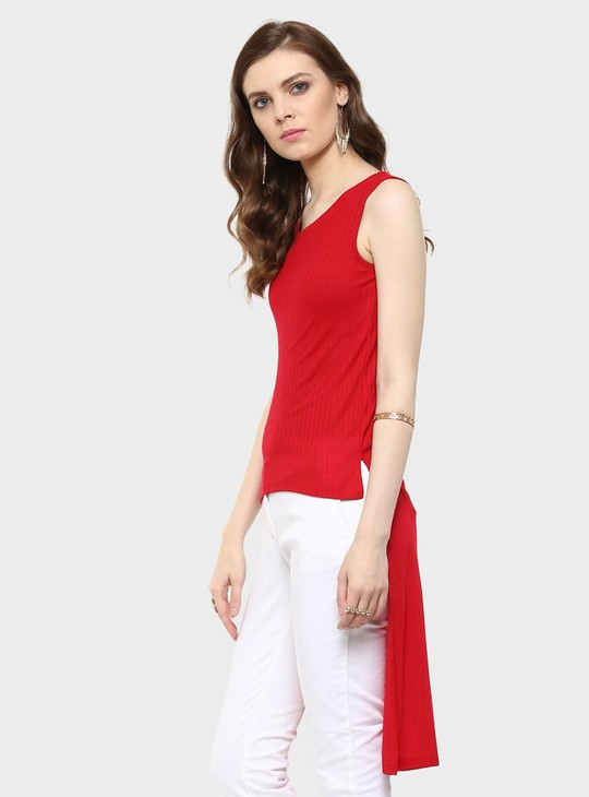 MAX Knitted High-Low Hem Top